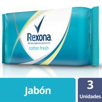 Rexona-Jabon-en-barra-Cotton-Fresh-pack-3x125-Gr