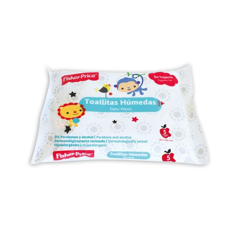 TOALLAS-HUMEDAS-FISHER-PRICE-CON-STICKER-5UD