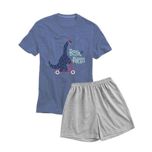 Pijama-Remera---Short-Niño-Brudan-Dinosaurio-T-8_1