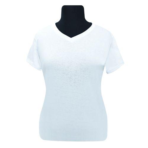 Remera-de-Mujer-Cuello-en-V-Blanco-T-L-1-Un-_1