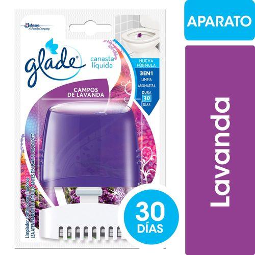 Canasta-Liquida-para-Inodoro-Glade-Campos-de-Lavanda-Aparato---Repuesto-50-Ml-_1