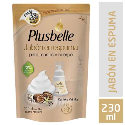 Jabon-en-Espuma-Plusbelle-Karite-y-Vainilla-Doypack-230-Ml-_1